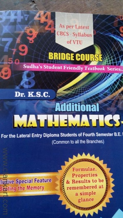 Diploma lateral entry to be maths - New Books