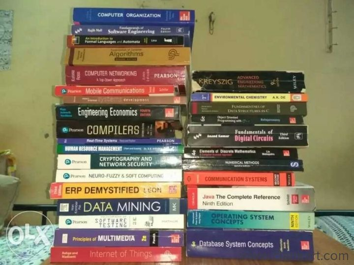 All the subjects of entire btech course - Used Books