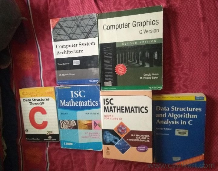 COMPUTER ARCHITECTURE, COMPUTER GRAPHICS, DATA STRUCTURES THROUGH C - Used Books