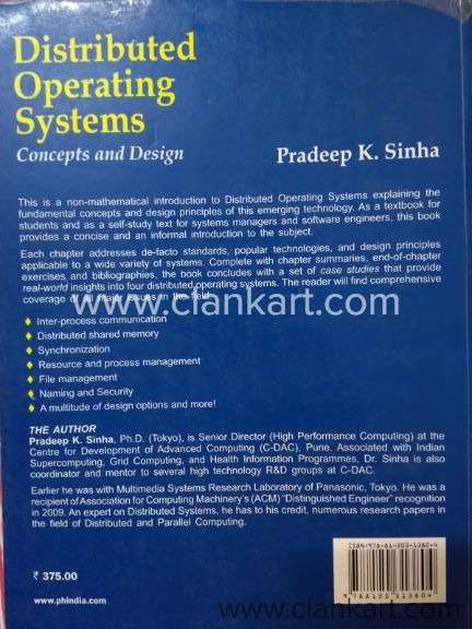 Distributed Operating Systems Concepts And Design India Clankart