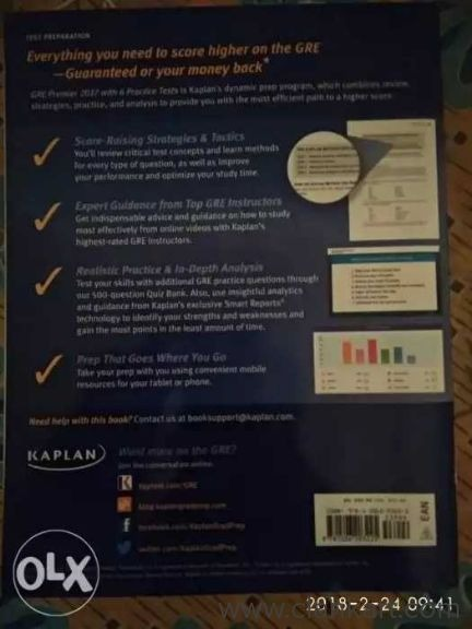 GRE preparation Bool from Kaplan - New Books