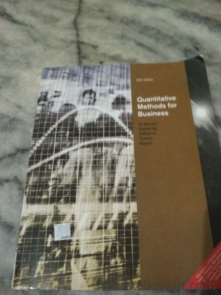Quantitative methods for business Anderson, Sweeney, Williams, Came, Martin 12th edition - New Books