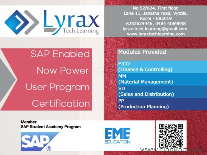 SAP, Tally Authorised Training & Certification - Ernakulam