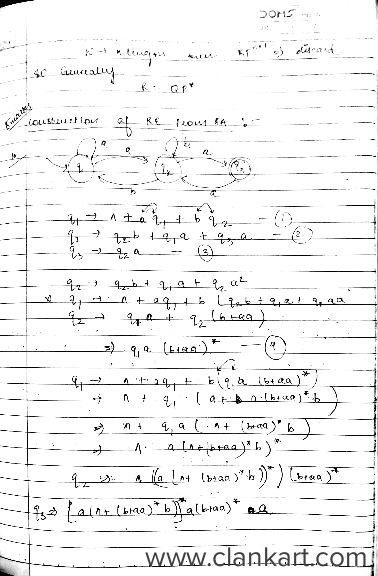 Theory of Computation - Notes
