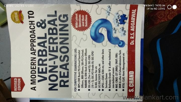 Verbal and non verbal reasoning by R S Agarwal - New Books